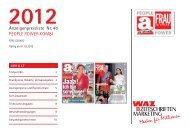 Preisliste 2012 - WAZ ZEITSCHRIFTEN MARKETING GmbH & Co. KG