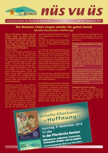 nüs vu üs Nr. 28 (Nov 2012) [PDF - Benken