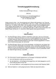Verwaltungsgebührensatzung - Stadt Ehingen