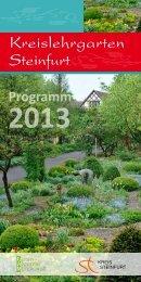 Kreislehrgarten Programm 2013 - Kreis Steinfurt