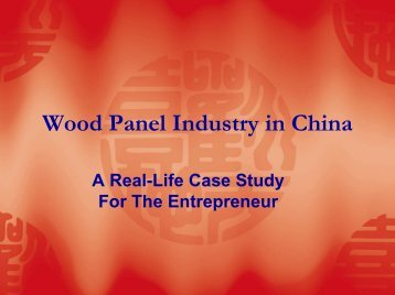 Wood Panel Industry in China - International Wood Composites ...