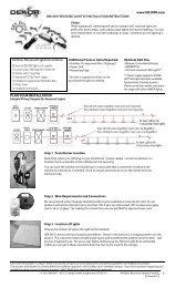 DEK DOTS Installation Instructions - DEKOR