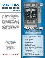 120 - Matrix Packaging Machinery
