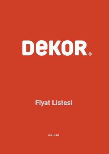 Fiyat Listesi - Dekor.Com