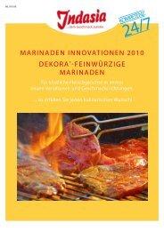 MariNadEN iNNOvaTiONEN 2010 dEKOra®-FEiNwürZigE ... - Indasia
