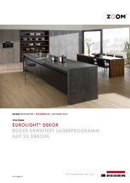 eUrolight® dekor egger erWeitert lagerprogramm aUf 20 dekore