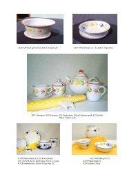 B28- Obstsieb groß 28cm, Dekor Tulpe lachs ... - Kocheler Keramik