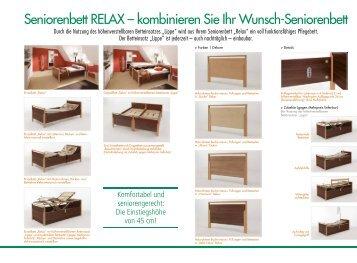 Seniorenbett RELAX – kombinieren Sie Ihr Wunsch ... - Stiegelmeyer