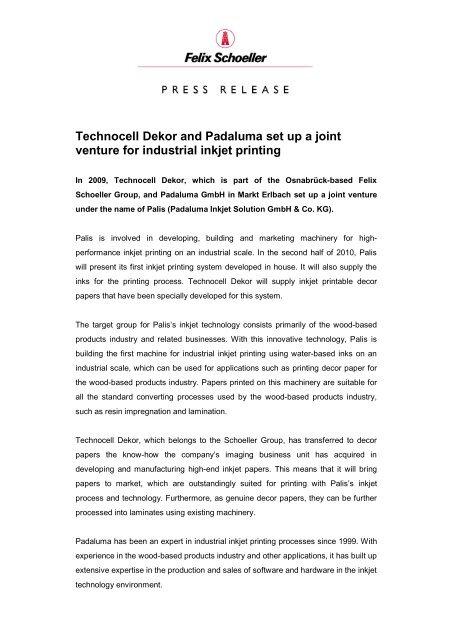 Technocell Dekor And Padaluma Set Up A Joint Felix