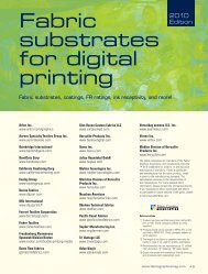 Fabric Graphics Substrate Guide 2010 - Specialty Fabrics Review