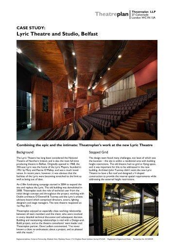 Lyric Theatre and Studio, Belfast - Theatreplan