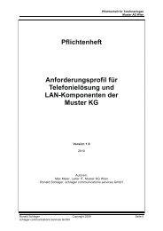 Pflichtenheft Anforderungsprofil für Telefonielösung und LAN ...