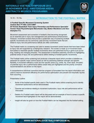 introduction to the football matrix nationale voetbal symposium 2012 ...