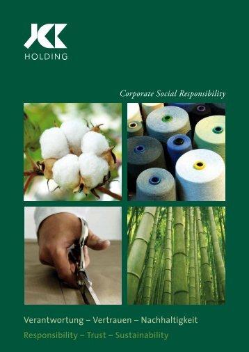 Verantwortung – Vertrauen – Nachhaltigkeit ... - JCK Holding