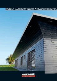 werzalit cladding profiles for a house with character.