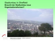 Stadtumbau in Sheffield
