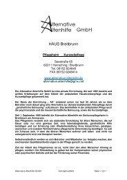 HAUS Breitbrunn - Alternative Altenhilfe GmbH