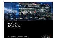 Mediadaten BZ-Berlin.de - Axel Springer MediaPilot