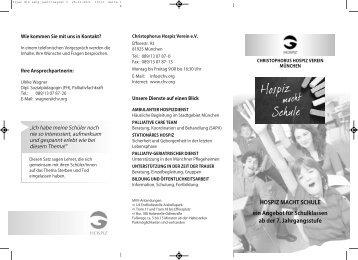 Weitere Details (pdf-Datei) - Christophorus Hospiz Verein e.V.
