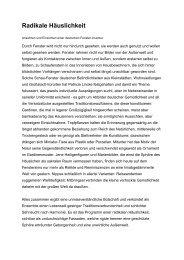 Radikale Häuslichkeit - Patricia Lincke