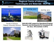 Regional Center for Advanced Technologies and Materials
