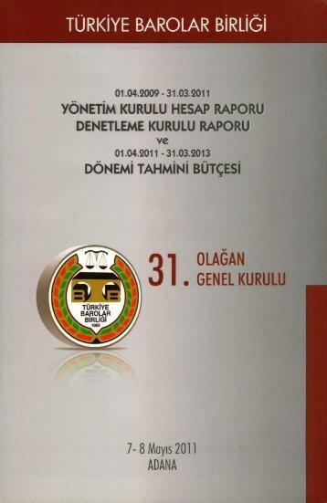 1 - Türkiye Barolar Birliği Yayınları