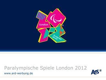 Paralympics live im Ersten - ARD-Werbung Sales Services GmbH