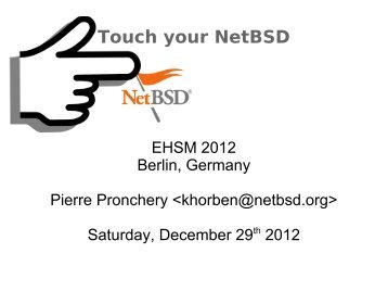 Touch your NetBSD