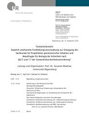 Gentechnikrecht - Biologie und Vorklinische Medizin - Universität ...