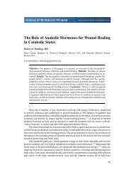 The Role of Anabolic Hormones for Wound Healing in ... - ePlasty