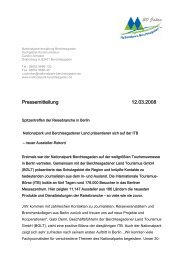 Spitzentreffen der Reisebranche in Berlin - Nationalpark ...
