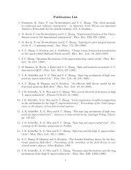 Publication List - Zhang