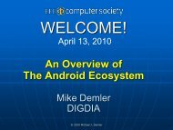An Overview of The Android Ecosystem