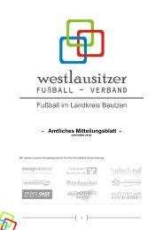 Amtliches Mitteilungsblatt - Westlausitzer Fussball Verband eV