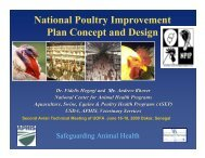 National Poultry Improvement Plan Concept and ... - fao ectad bamako