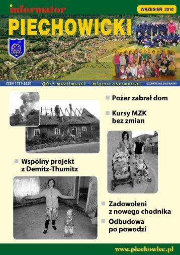 INFORMATOR PIECHOWICKI • wrzesień 2010 - Piechowice