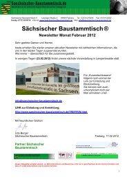 Newsletter Sächsischer Baustammtisch Februar 2012