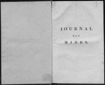 Journal des mines et Annales des mines 1794-1881.
