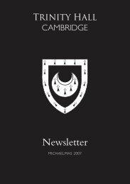 College Reports - Trinity Hall - University of Cambridge
