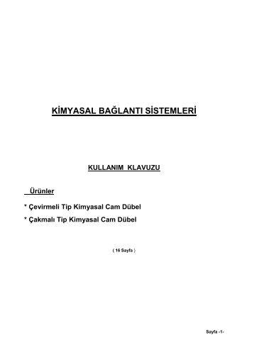 KĐMYASAL BAĞLANTI SĐSTEMLERĐ - ybs bağlantı sistemleri