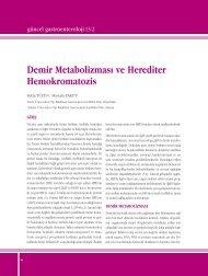 Demir Metabolizması ve Herediter Hemokromatozis - Güncel ...