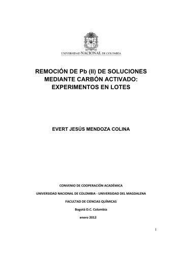 (II) DE SOLUCIONES MEDIANTE CARBÓN ACTIVADO