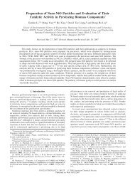 Preparation of Nano-NiO Particles and Evaluation of Their Catalytic ...