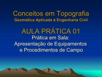 Aula Prática 01_Sala_Topografia.pdf - Laboratório de Topografia e ...