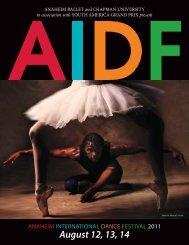August 12, 13, 14 - Anaheim Ballet