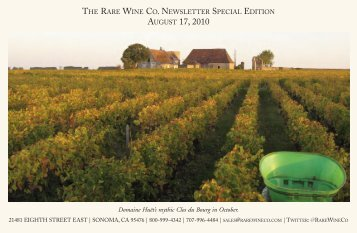 RWC Nesletter Special Edition | The Soul of Huët - The Rare Wine Co.