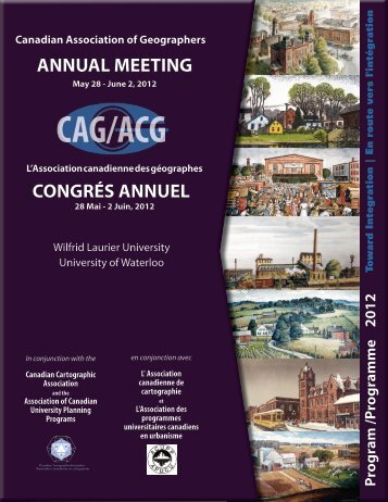 final program - Canadian Association of Geographers