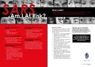 SARS-AmIAt Risk - Health Promotion Board