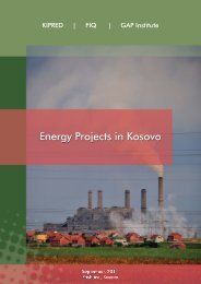 Energy Projects in Kosovo - Instituti GAP