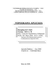 TOPOGRAFIA APLICADA - GrupoGE - Grupo Gestão do Espaço - Ufsc